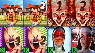 Dark Riddle, Dark Riddle 2, Death Park, Death Park 2, Ice Scream, Ice Scream 2, Evil Nun, Evil Nun 2