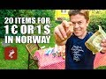 20 Things for 1 Euro or 1 Dollar in Norway