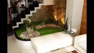 small garden under stairs