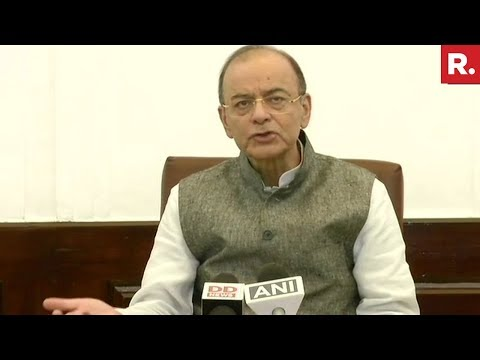 Finance Minister Arun Jaitley Addresses Media On #2YearsOfDeMo