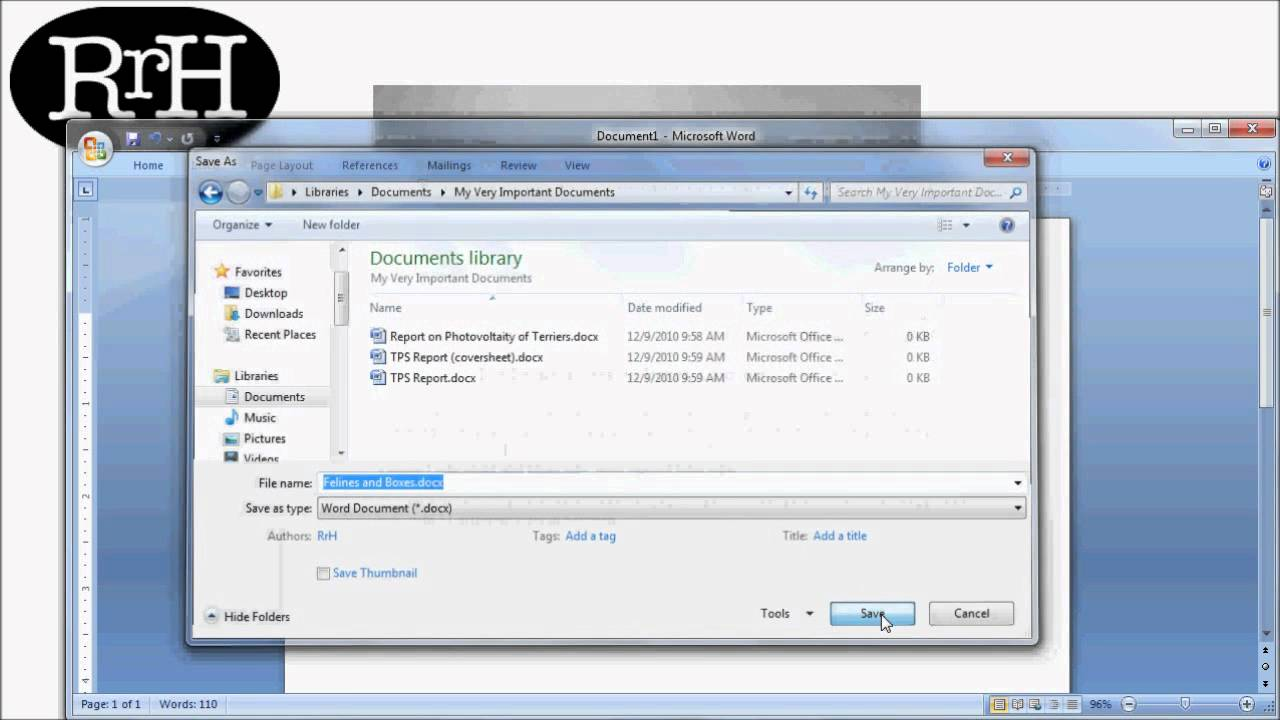 How to save documents directly to dropbox in windows 7.
