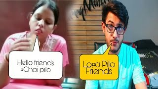 Hello Friends Chai pilo carryminati roast pappe wali aunty