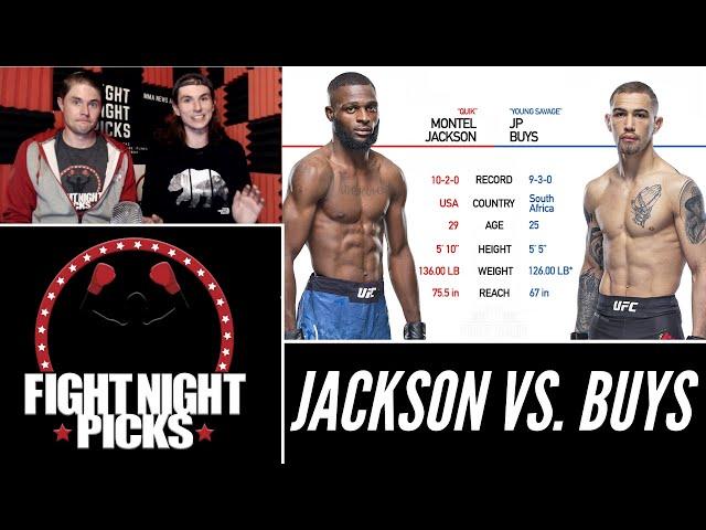 UFC Fight Night: Montel Jackson vs. JP Buys Prediction