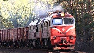 2М62К-0922 с грузовым поездом / 2M62K-0922 with a freight train