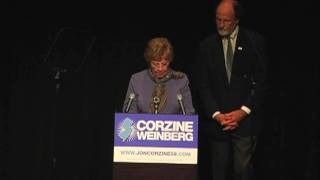 Senator Loretta Weinberg speaks at Bergen PAC
