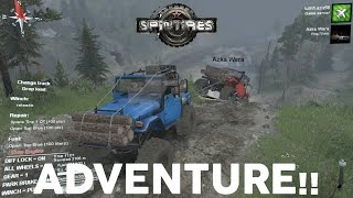 SPINTIRES INDONESIA - Adventure Offroad : PlanzXtreme 4x4 Map Part II