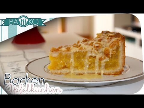 apfelkuchen mit vanillepudding funnydog tv. Black Bedroom Furniture Sets. Home Design Ideas