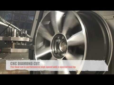 Alloy Wheel Repair Refinish Diamond Cut Wheel