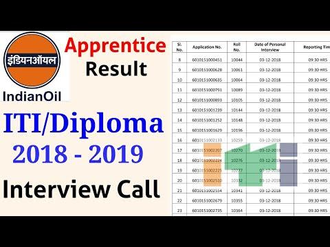 IOCL Apprentice Result 2018-19 | Apprentice Interview Call | ITI/Diploma Students