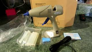 REVIEW OF -MONVICT hot glue gun -(Discount code below)  - Craft Glue Gun, Dual Power Heavy Duty