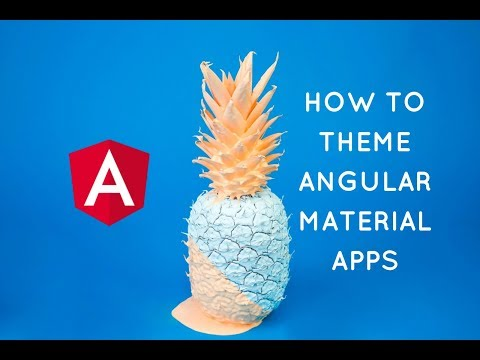 Total guide to Theming Angular Material Apps (Live Coding Video Tutorial)