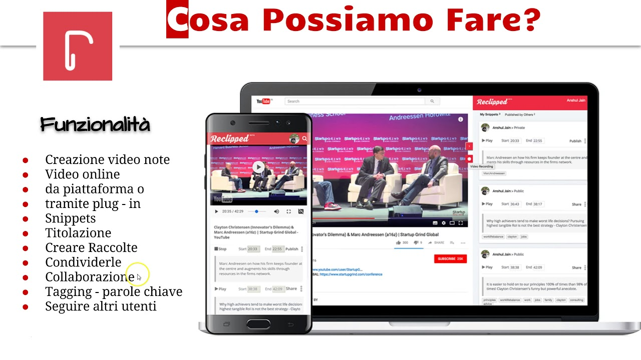 frammento video youtube