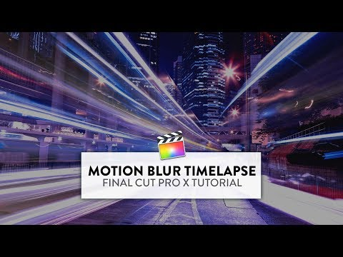 How To Make Super Smooth MOTION BLUR TIMELAPSE Video In Final Cut Pro X (Vlog Editing Tips)