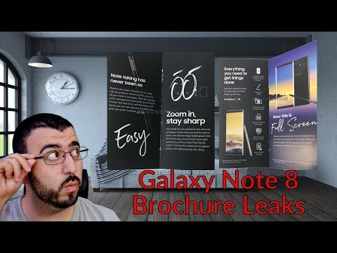 Official Galaxy Note 8 Brochure Leaks Last Details