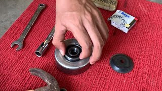 REPLACE IDLER PULLEY BEARING
