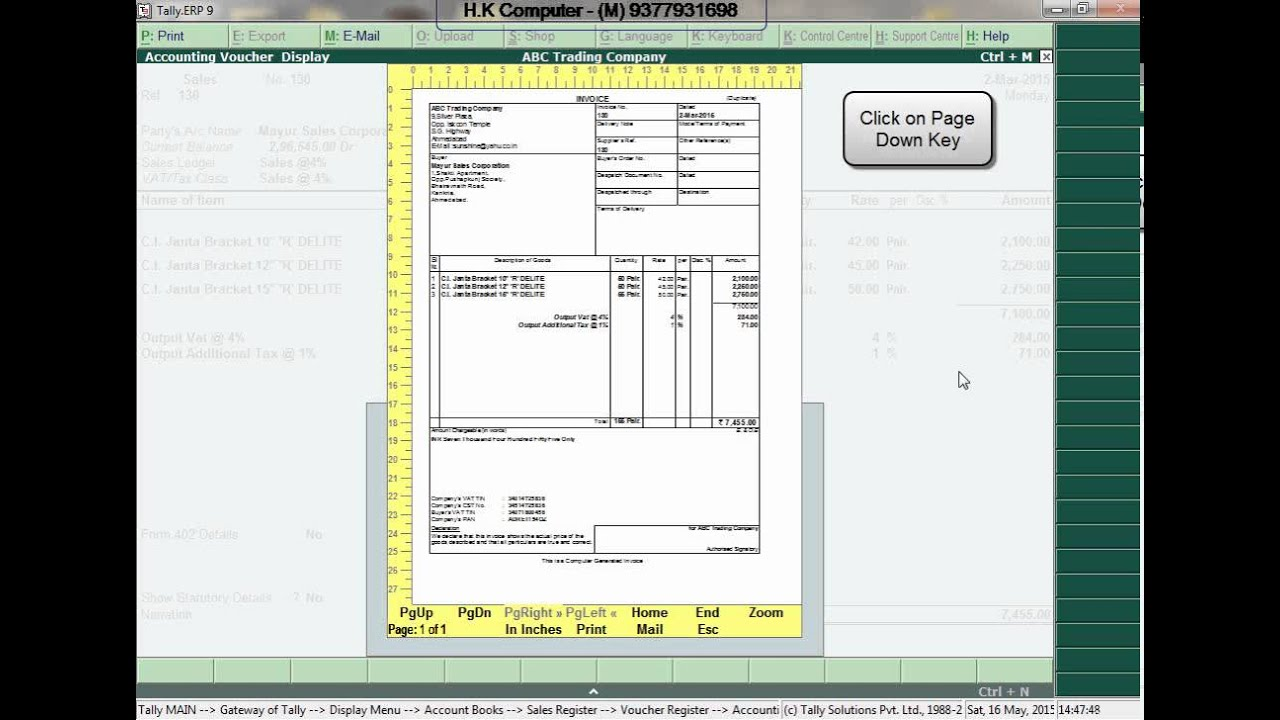 Print Multiple Copies of Invoice from TallyERP 9 - YouTube - invoice print out