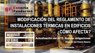 Actualizaciones del RITE 2021 - Alejandro San Vicente - Fundación Laboral de la Construcción