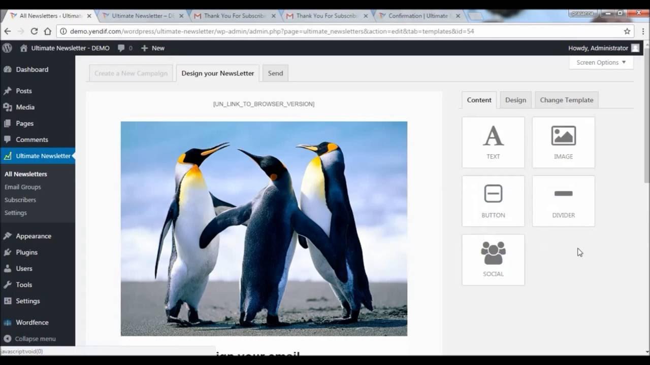 Ultimate Newsletter A Wordpress Newsletter Plugin Youtube