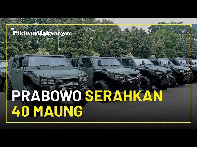 Prabowo Serahkan 40 Maung Buatan Pindad ke KSAD Andika, Total Pesan Hingga 500 Unit