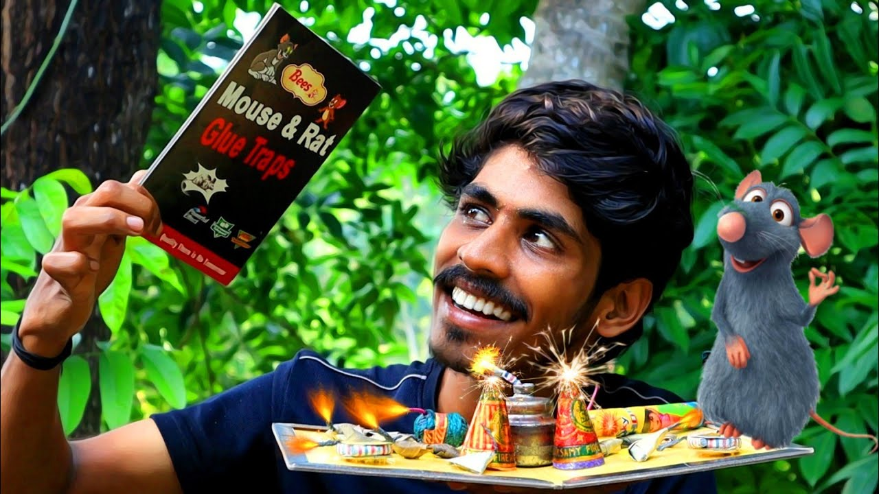 എലി പശ v/s CRACKERS 🤯 EXPERIMENTS | Arjun talks