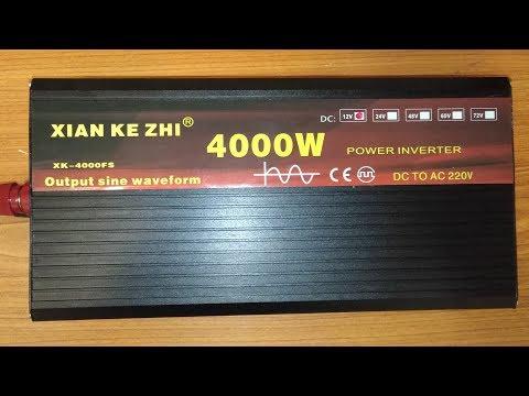 Обзор инвертора 12- 220В 2000Вт чистый синус