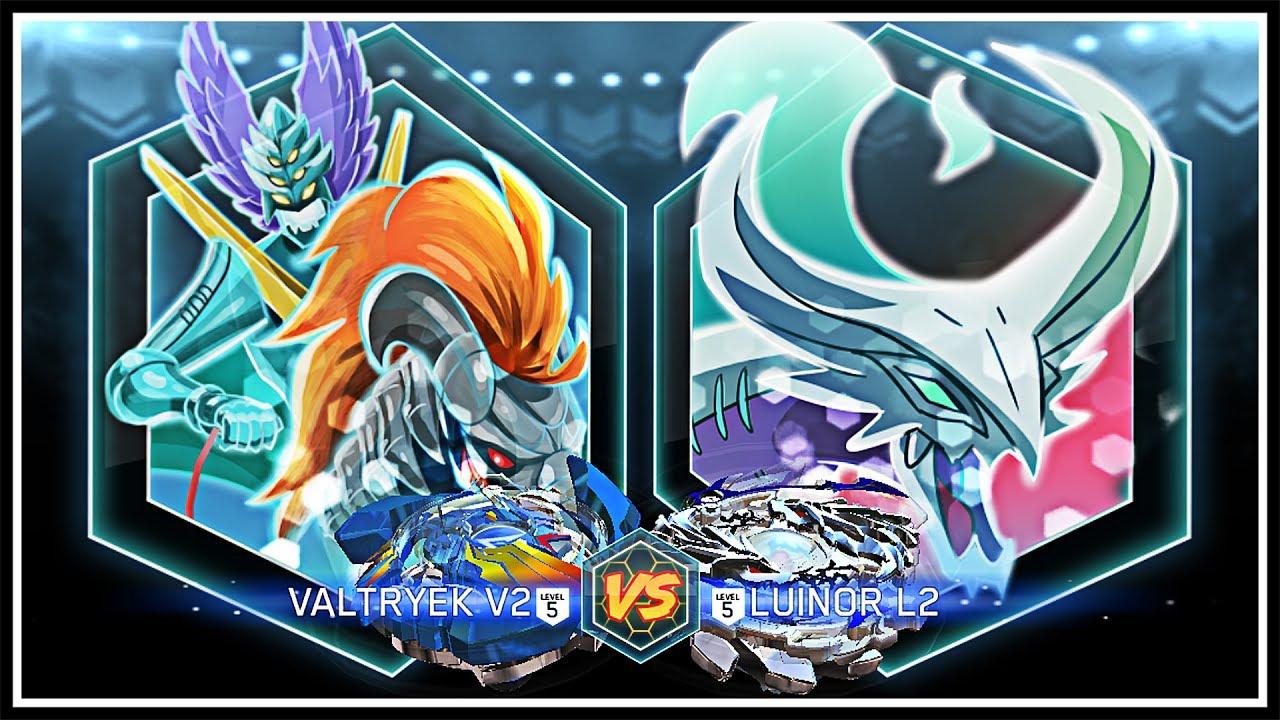 Valtryek V2 (Victory Valkyrie) VS Luinor L2 (Lost Longinus) - Beyblade Burst APP BATTLE! - YouTube