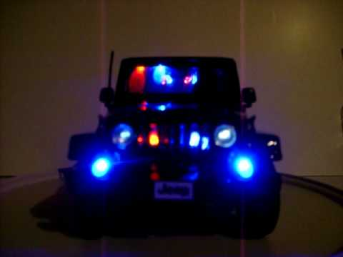Jeep Wrangler Fog Lights >> 1/18 Jeep Wrangler Sahara Custom Police LED's - YouTube