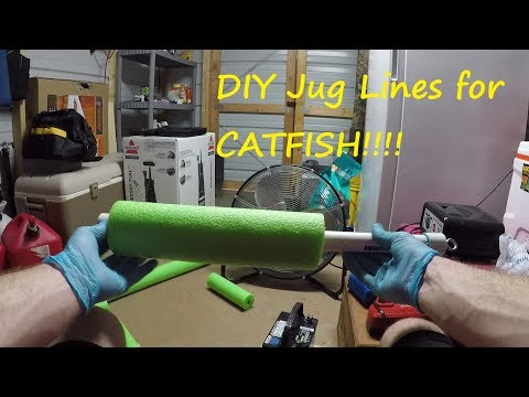 How To Make Jug Lines For Catfish - How To Make Catfish Noodles - Jugs For Catfish