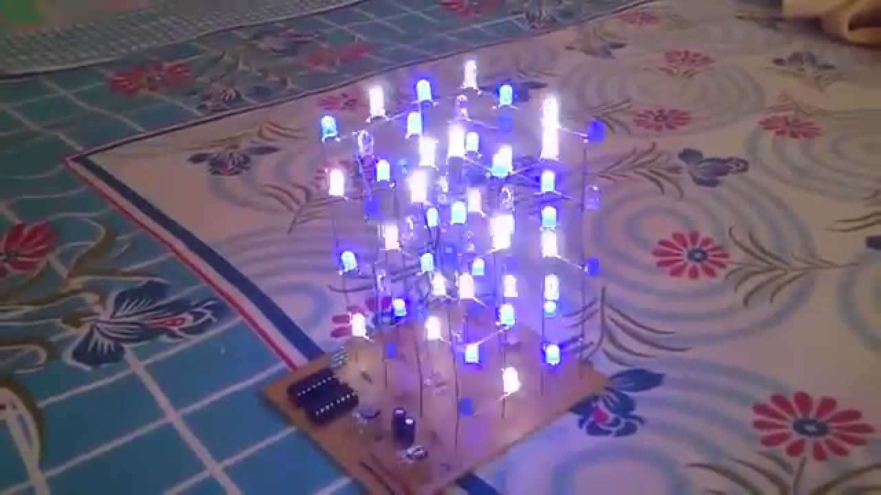 Led Cube With 555 And Shift Register By Dzit C Timer In Monostable Mode Circuit Diagram Electronicshuborg