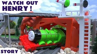 thomas and friends play doh prank accident crash story watch out henry naughty tom moss toys