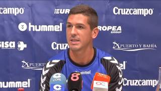 Jon Ander Garrido en previa Cádiz-Cartagena (28-08-15)