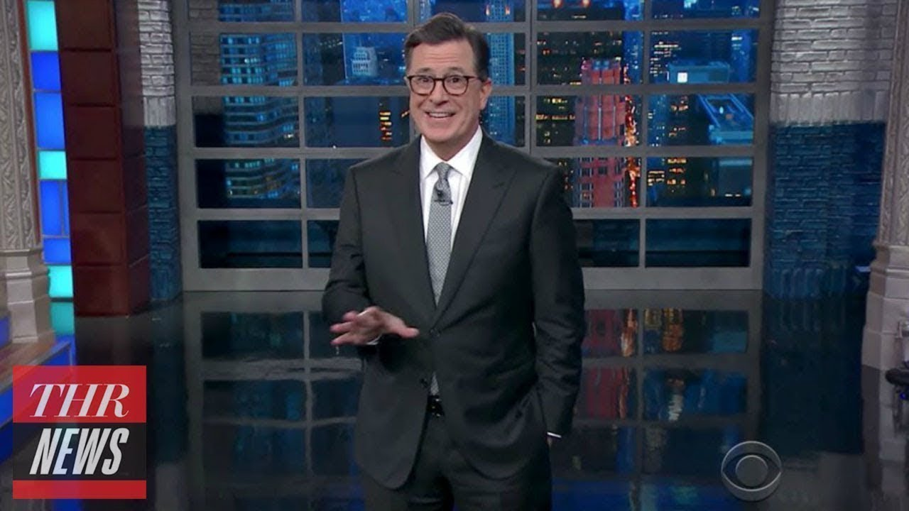Late night hosts make fun of trumps puerto rico visit thr news