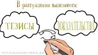 Рассуждение как тип речи (функционально-смысловые типы)