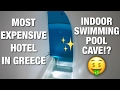 MOST EXPENSIVE HOTEL IN GREECE?! INDOOR CAVE POOL!