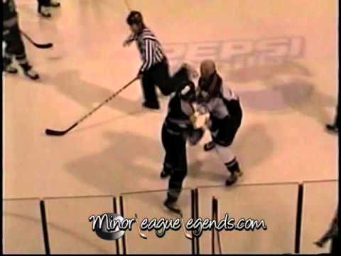 Dec 23, 2003 Rob Frid vs David Ambler Rockford Icehogs vs Muskegon Fury UHL