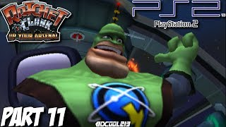 Ratchet and Clank: Up Your Arsenal Gameplay Walkthrough Part 11 - Zeldrin Starport - PS2 Lets Play