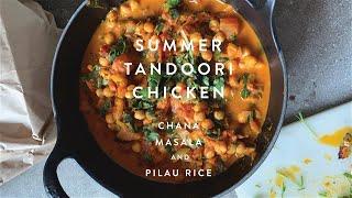 Authentic Indian | Tandoori Chicken and Chana Masala  | WM . Quarantine Cuisine | #stayhome #recipe
