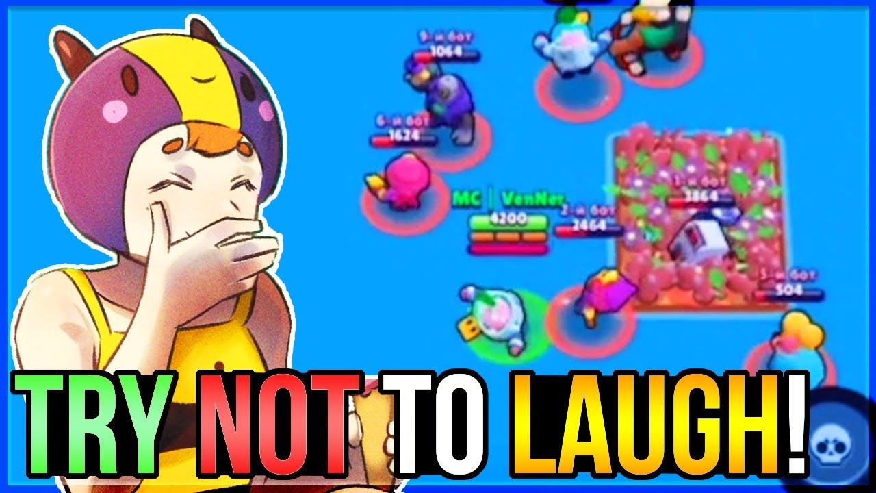 You LAUGH You LOSE - BRAWL STARS Funny Moments #4!