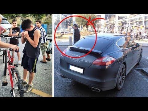 """Download Ein Junge """"krachte"""" mit dem Fahrrad in einen Porsche...Die Reaktion des Autofahrers war UNGLAUBLICH!"""