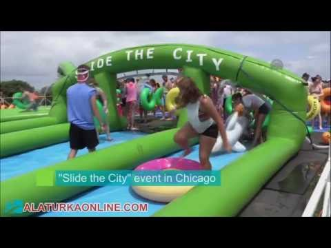 Slide the City Event at Montrose Park in Chicago