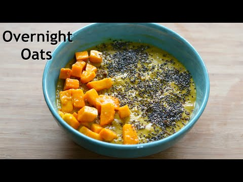 Overnight Oats Thyroid/PCOS Weight Loss Mango Lassi Overnight Oats Recipe Skinny Recipes
