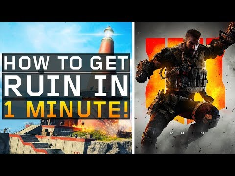 How to Unlock Ruin in 1 minute! (Black Ops 4: Blackout)