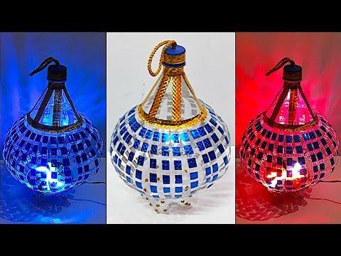DIY - Lantern/Tealight Holder from plastic bottle - Part 1 | DIY Christmas Decorations Idea