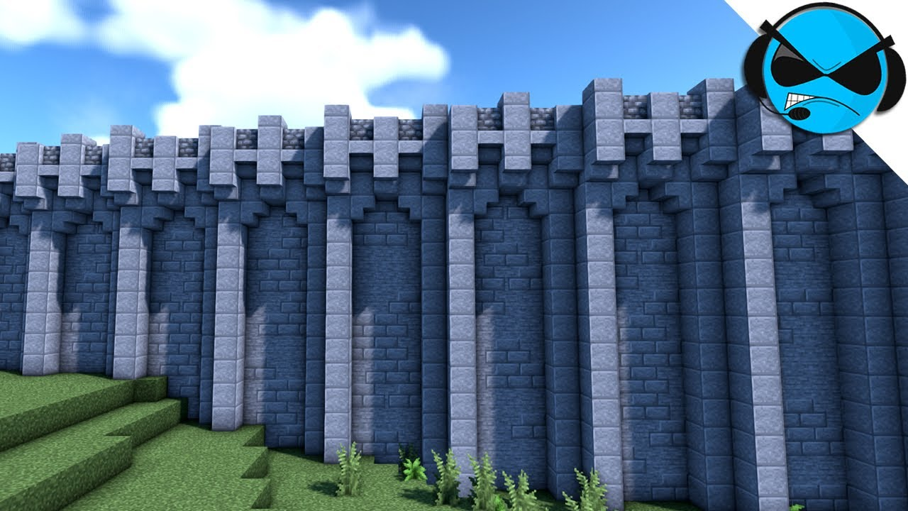 Minecraft How To Build A Castle Wall Minecraft Build Tutorial