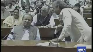 Nawaz Sharif in National Assembly