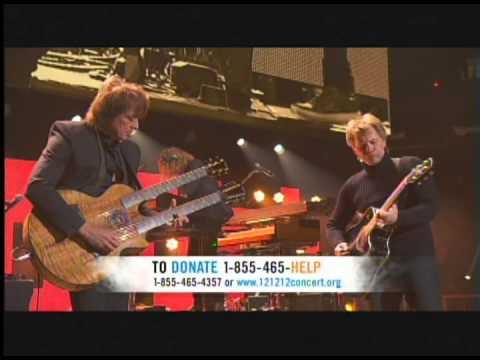 Bon Jovi Dead or Alive LIVE 121212concert Hurricane Sandy