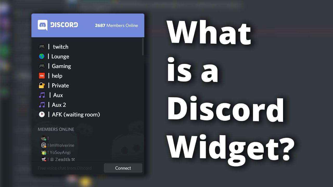 What is a Discord Widget?
