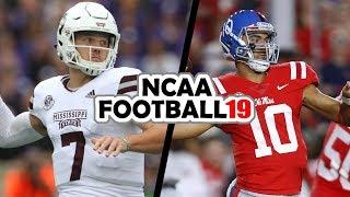 Mississippi State @ Ole Miss - 11-22-18 NCAA Football 19 Week 13 Simulation