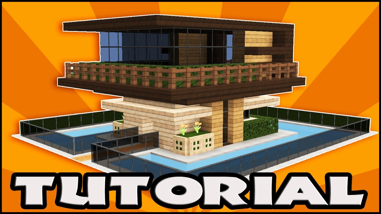 Minecraft How to Build a Wooden House Tutorial Easy Modern
