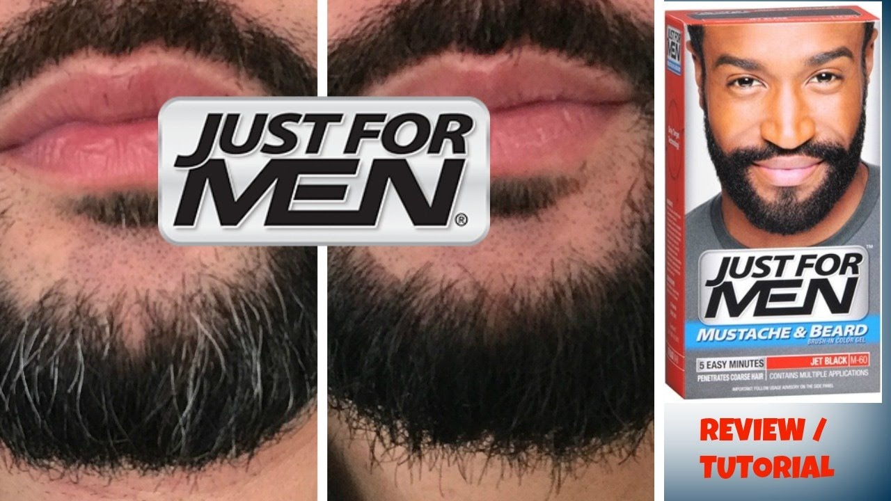 JUST FOR MEN beard color JET BLACK - YouTube